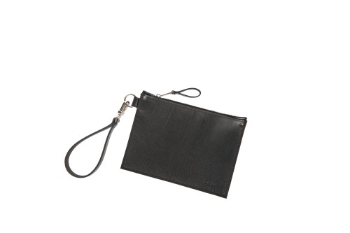 Mini clutch with wrist strap || black